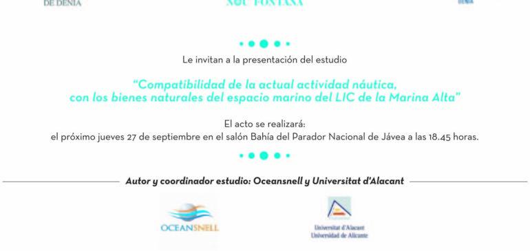 Estudio Compatibilidad de la actual actividad náutica, con los bienes naturales del espacio marino del LIC de la Marina Alta