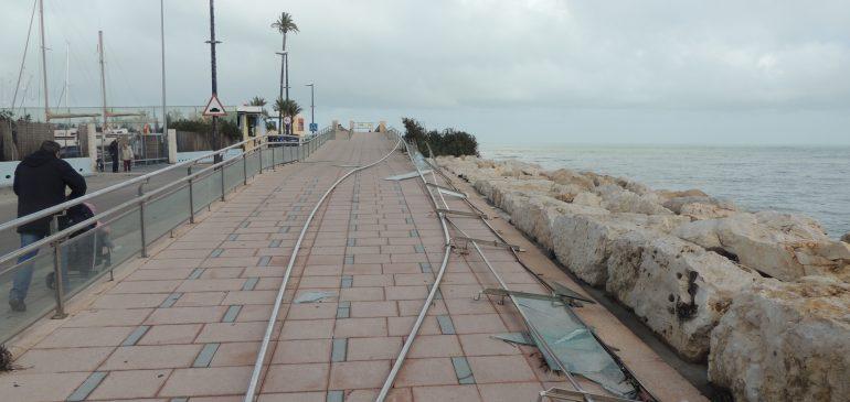Los puertos valencianos soportan cuatro millones de euros de daños desde el temporal Gloria