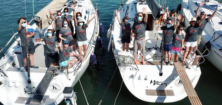 (Es) El equipo de Vela de Marina El Portet retoma su actividad con los entrenamientos