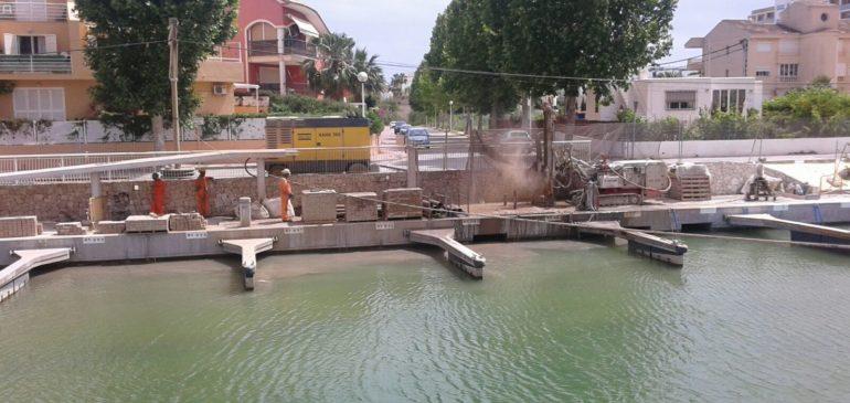 AVANCE DE LAS OBRAS EN EL CANAL DE LA FONTANA